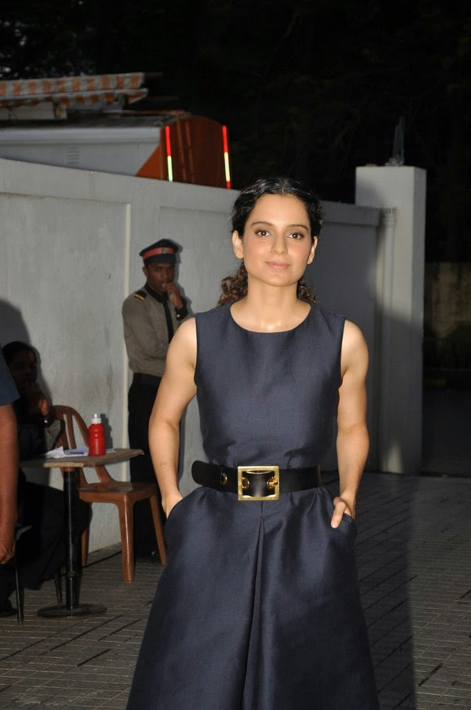 Kangana Ranaut on the sets of Anupama Chopra's new show