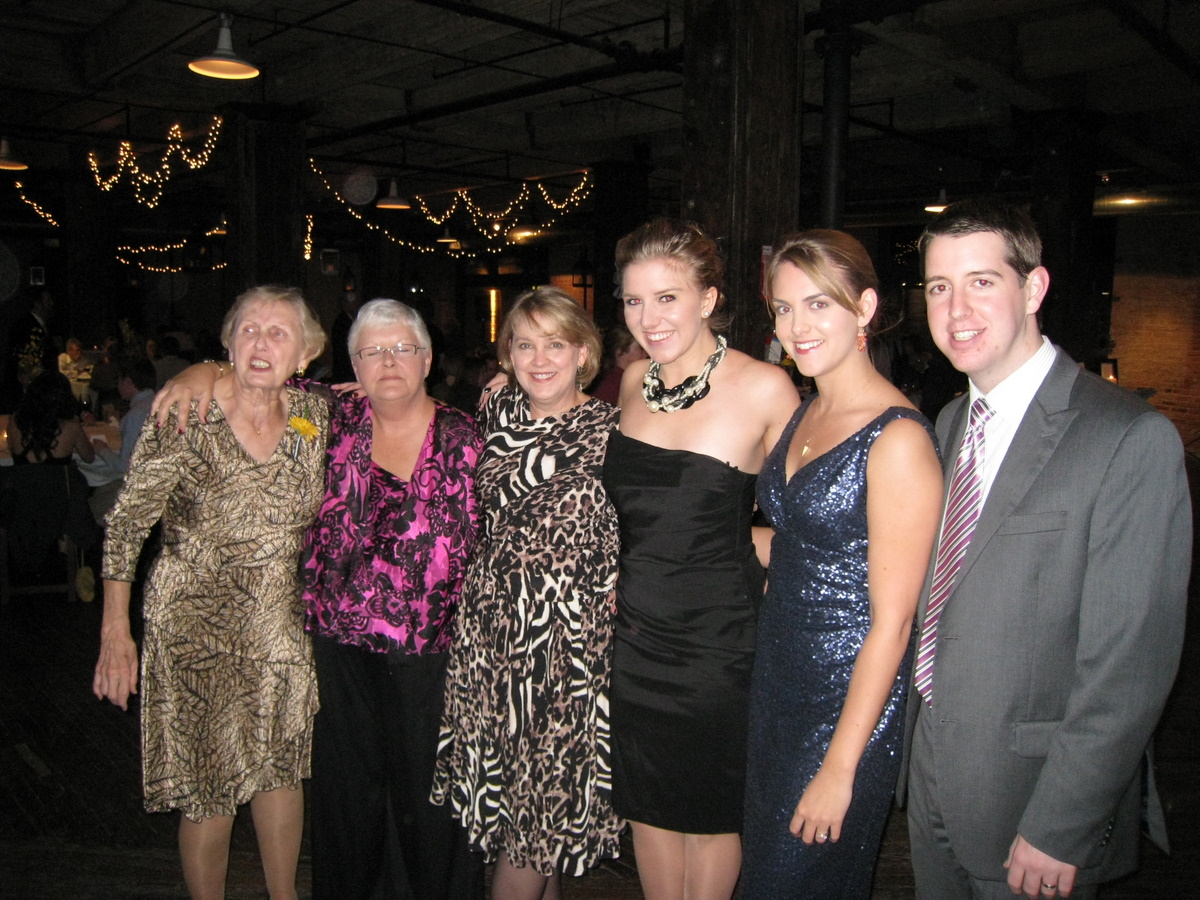 ; sister-in-law, Kim; me; Channing; Laura; Laura's husband, Thomas