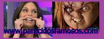 Yola Berrocal con Chucky