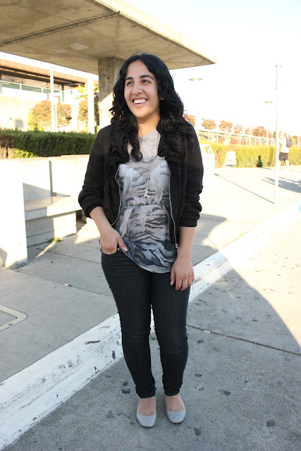 Forever 21 Zebra Print Top Outfit