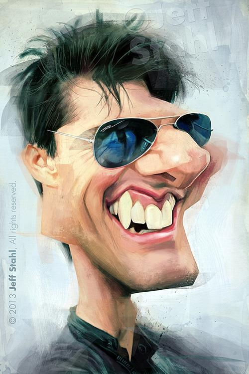 "Caricatura de ""Tom Cruise"" por Jeff Stahl"