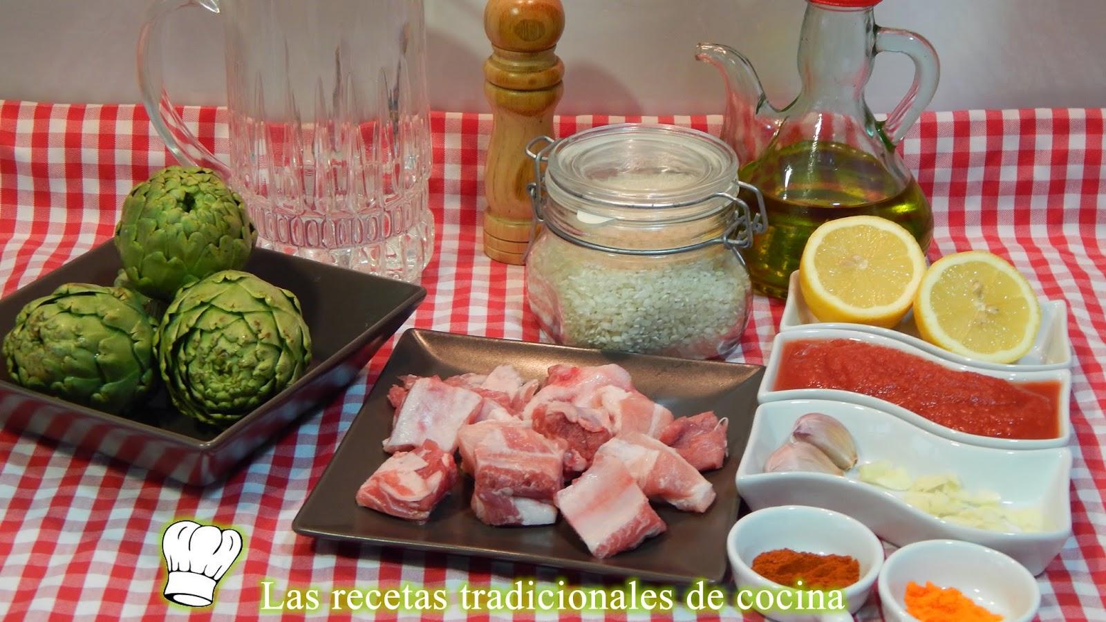Receta de arroz caldoso con alcachofas y costilla de cerdo