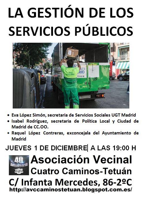 1 diciembre en Tetuán: Servicios Públicos