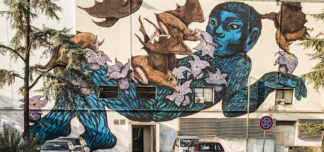 Street Art Collaboration By Ericailcane and Bastardilla For Festival Filosofia In Modena, Italy. 1