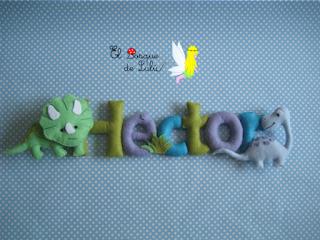nombre-fieltro-dinosaurios-Héctor-regalo-personalizado-decoración-infantil-detalle-nacimiento-dinosarurios-elbosquedelulu-hechoamanoparati