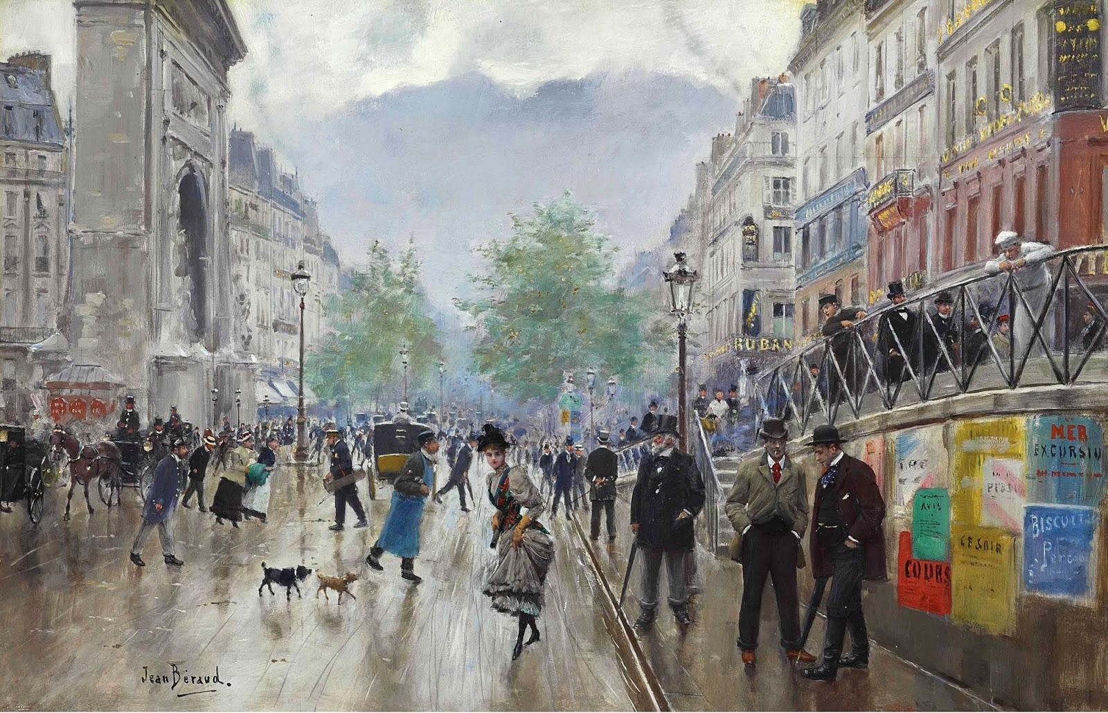 Jean    C Araud  Le  boulevard  Saint Denis  a  Paris