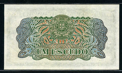 Banco Nacional Ultramarino Mozambique currency Escudo banknote
