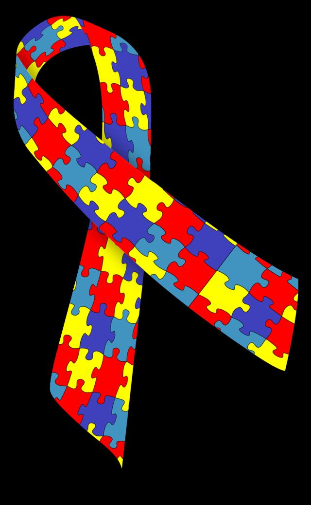 Wstążka Solidarności z Autyzmem.