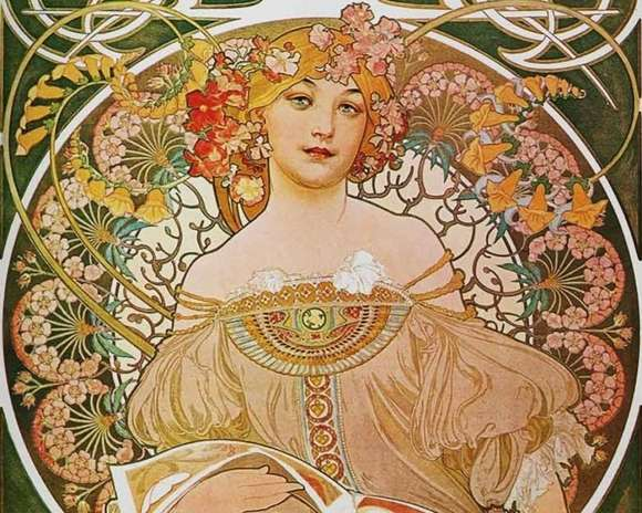 Alphonso Mucha Art Painting Wallpapers 08