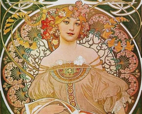 Alphonso Mucha Art Painting Wallpapers 08