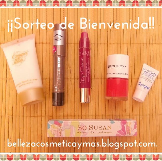 Sorteo de bienvenida al blog de Belleza, Cosmética y Más!