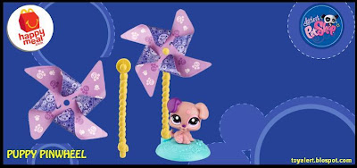 McDonalds Littlest Pet Shop happy meal toys  - US release - Puppy Pinwheel
