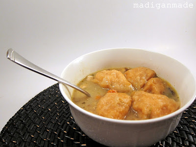 Crock Pot Chicken and Dumpling Stew  - recipe at madiganmade.com