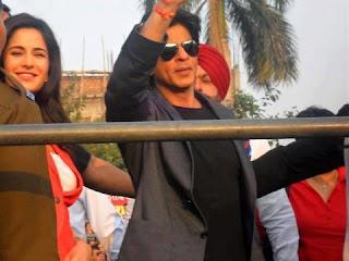 Shaharukh, Katrina and Anushka at Jalandhar to promote Jab Tak Hai Jaan