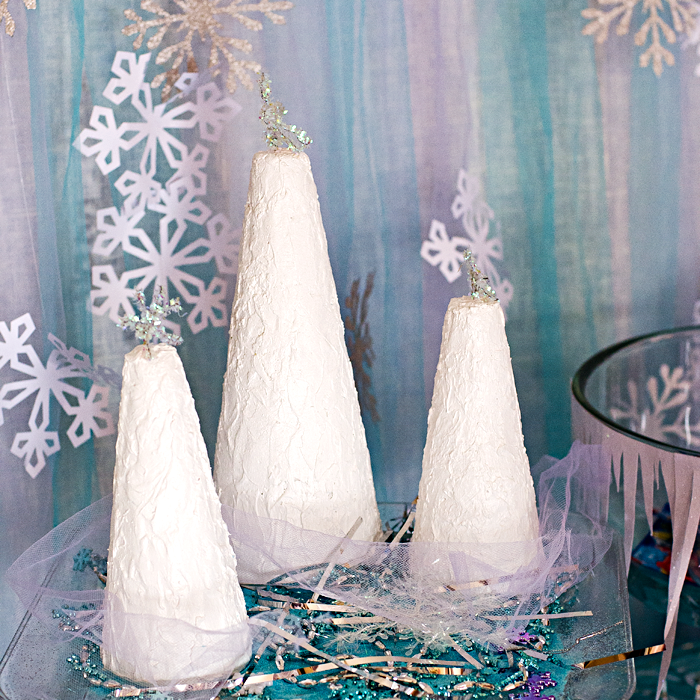 Disney Frozen® inspired mixed media trees tutorial