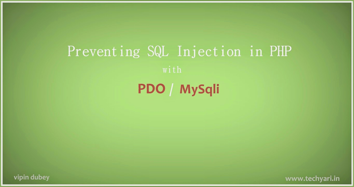 how to prevent sql injection in php