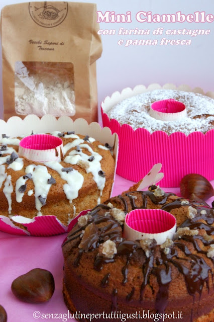 mini ciambelle senza glutine con farina di castagne e panna fresca per l'mtc di novembre!