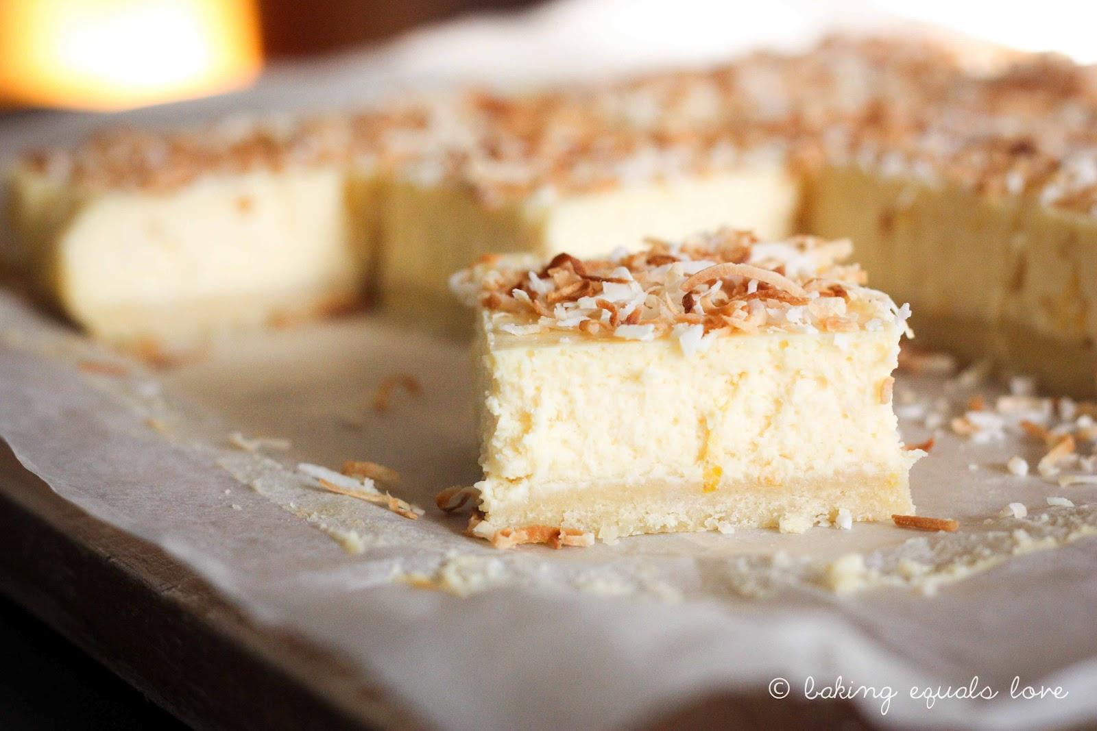 baking = love: When brûlée goes bad: Lemon Coconut Cheesecake Bars