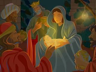 Sveta tri kralja Božićne slike čestitke sličice