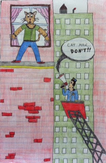 a can man is going to jump from a building