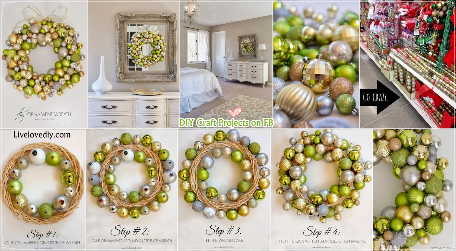 How To Make A Christmas Ornament Wreath Diy Craft Projects