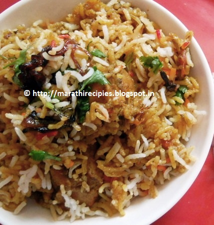 Non Veg Recipes in Marathi http://marathirecipies.blogspot.com/2012/09/layer-chicken-biryani.html