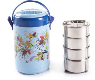 Buy Cello Mark Insulated Lunch Carrier (4 Container) at Rs. 399 only
