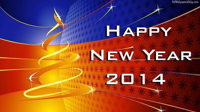 Wallpaper Happy new year 2014 Full HD