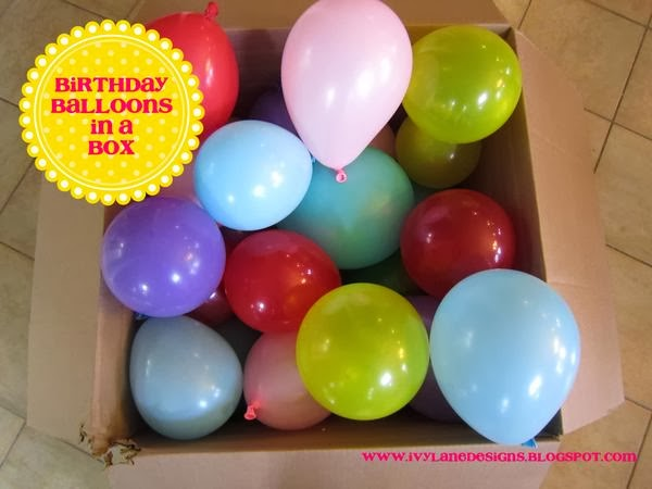 IVY LANE DESIGNS Birthday Balloons In A Box