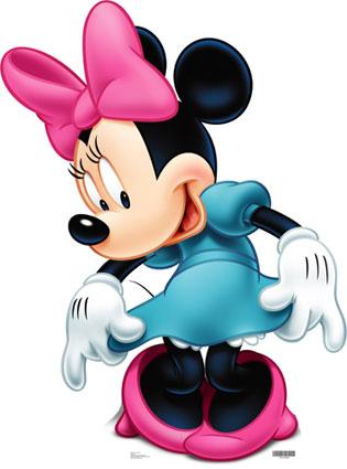 Para Imprimir Minnie Mouse De Rosa Minnie Mouse Dibujos Para Imprimir