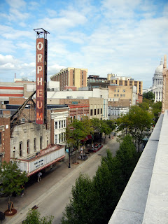 View from the observation deck at the Museum of Contemporary Artson State street in Madison, Wisconsin
