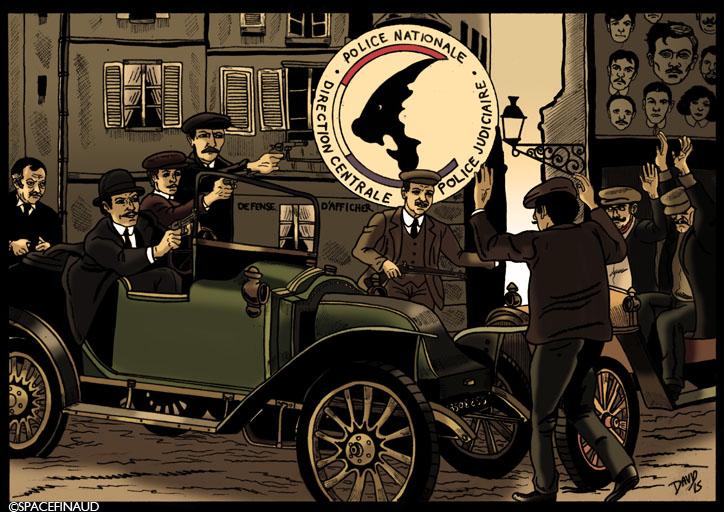 """Pour commencer l'année 2016, j'ai réalisé """"Les Brigades du Tigre"""", célèbre série française des années 70.     L'histoire commence en 1907, Clémenceau fonda les Brigades Mobiles afin de moderniser les forces de police contre le banditisme. L'histoire raconte les aventures de trois policiers, le commissaire Valentin et les inspecteurs Pujol et Terrasson, dans diverses affaires sur fond d'événement. Comme par exemple, l'arrestation de la bande à Bonnot, célèbre bandit anarchiste.     Pour la petite histoire, le titre """"Les Brigades du Tigre"""" fait référence au surnom de Georges Clémenceau, fondateur de la police, qu'on l'appelait """"Le Tigre"""".     J'adore cette série parce que j'ai toujours apprécié le charme parisien d'avant guerre. Une époque vraiment à part.   Sans oublier la chanson du générique interprété par Philippe Clay."""