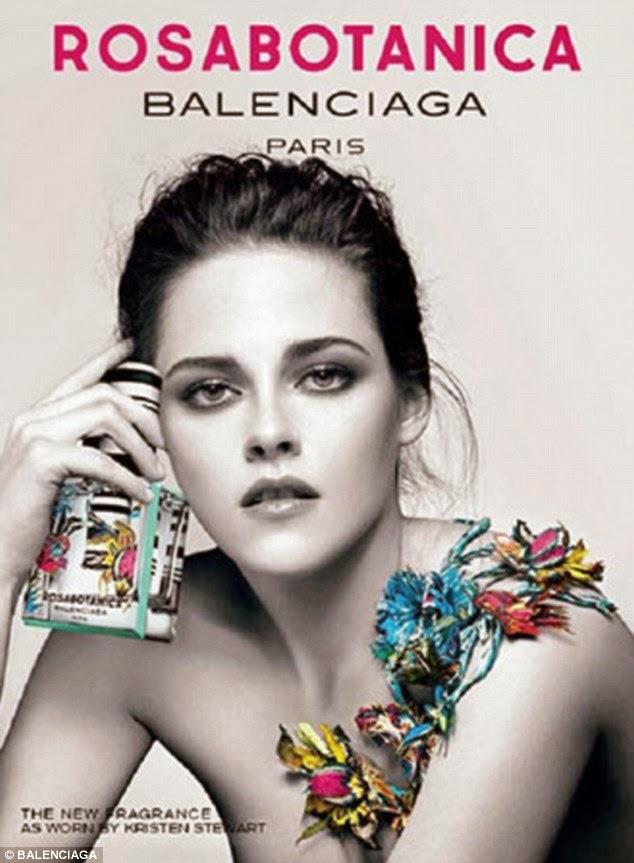 Kristen Stewart Balenciaga`s new perfume, Rosabotanica