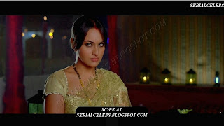 Sonakshi Sinha in transparent blouse