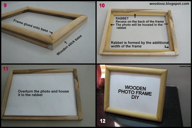 How to make a photo frame using wood