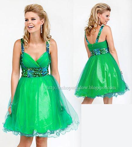 секси бална рокличка в синьо-зелено