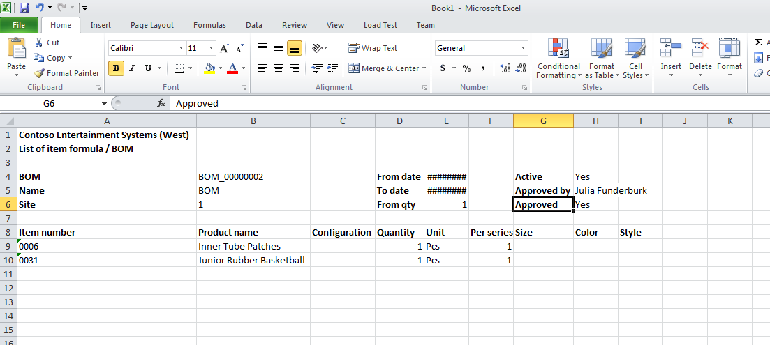 Vimal Axapta Create Export Excel Bom Report Template From X In