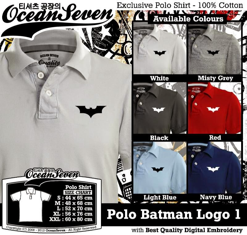 Kaos Polo Batman Logo 1