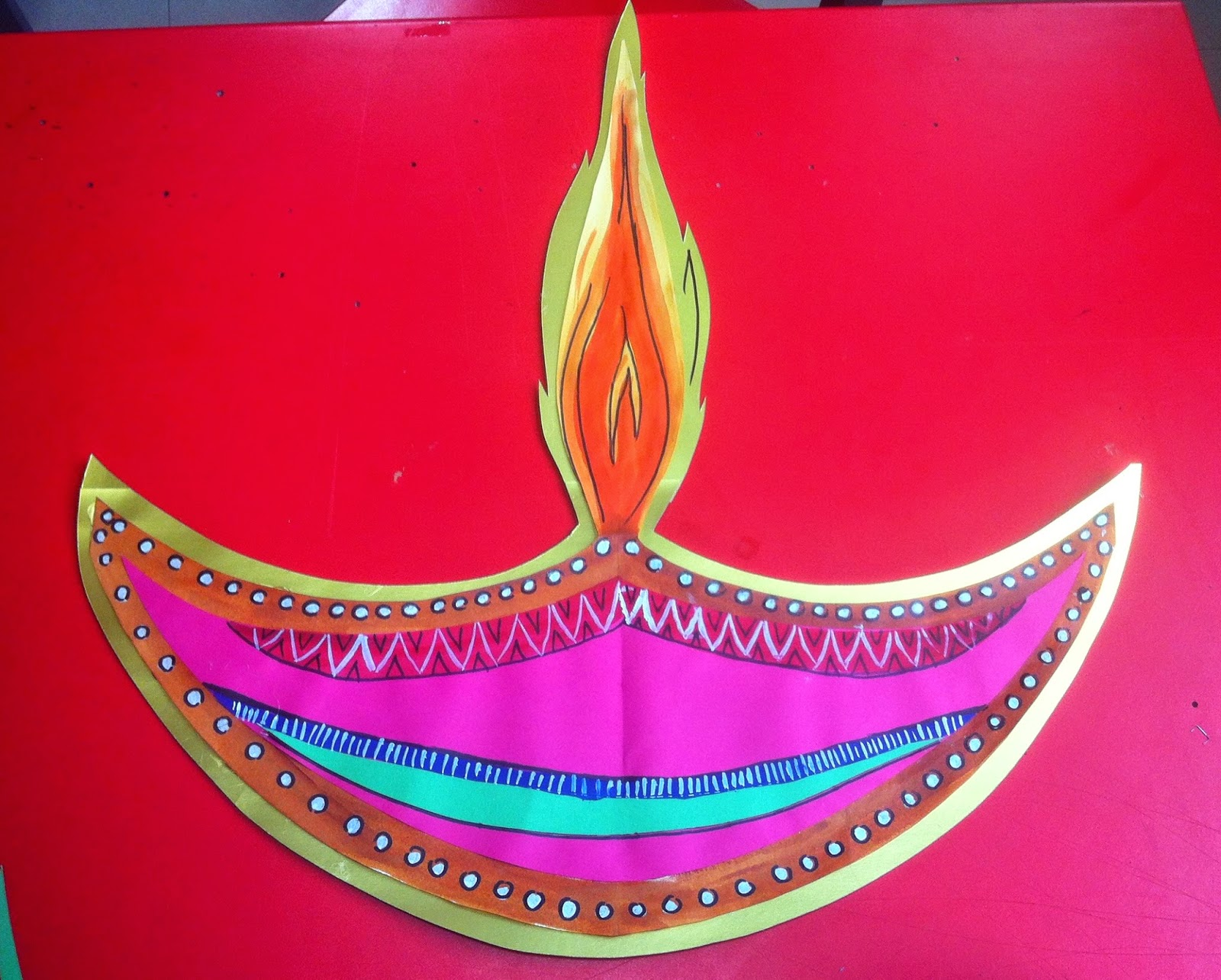 Art craft ideas and bulletin boards for elementary for Art and craft diya decoration