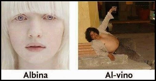 Chica alvina y un hombre borracho de vino.