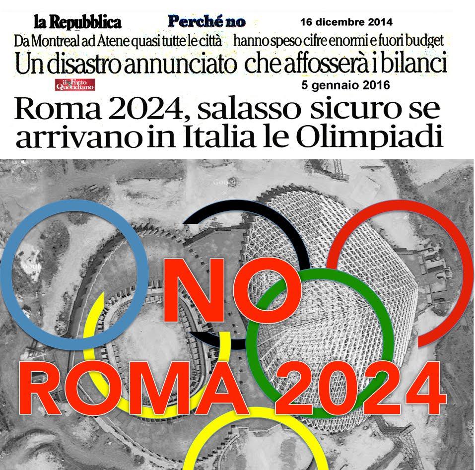 NO ALLA CANDIDATURA OLIMPICA ROMA 2024