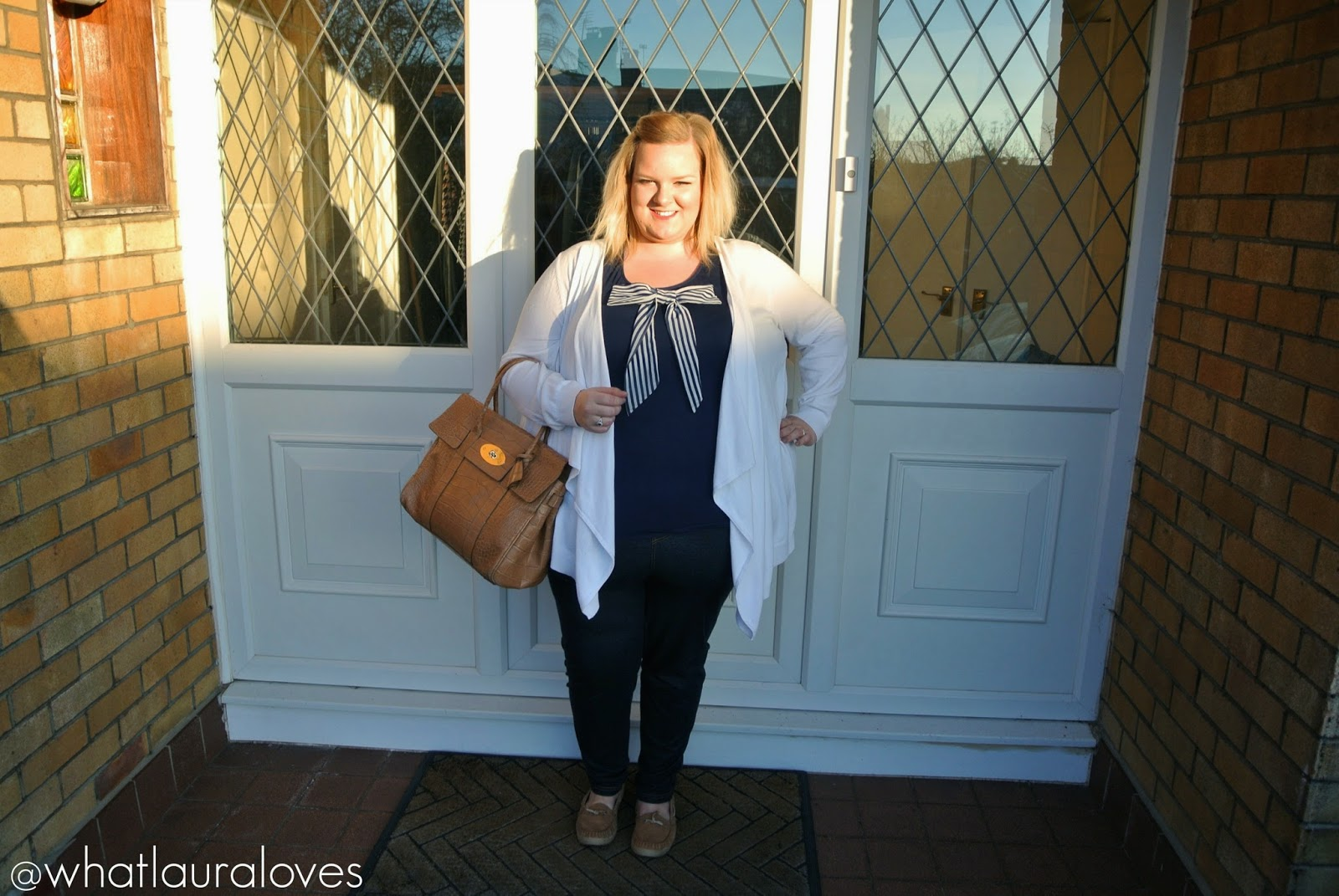 Mulberry Bayswater Soft Croc Biscuit Brown Plus Size Blogger Review