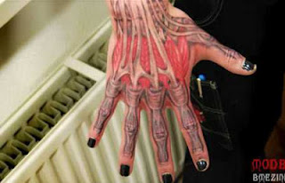 3d tattoo: the anatomy of the human hand