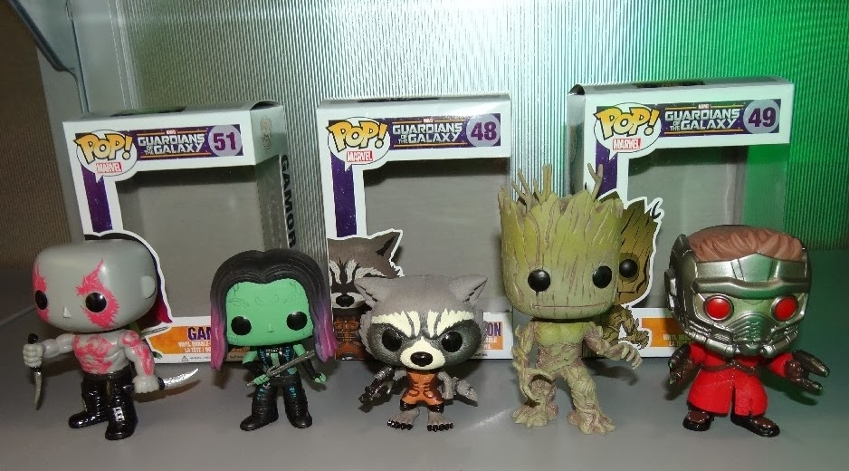 Toy Fair 2014 First Look: Guardians of the Galaxy Pop! Marvel Vinyl Figures by Funko - Drax, Gamora, Rocket Raccoon, Groot & Star-Lord
