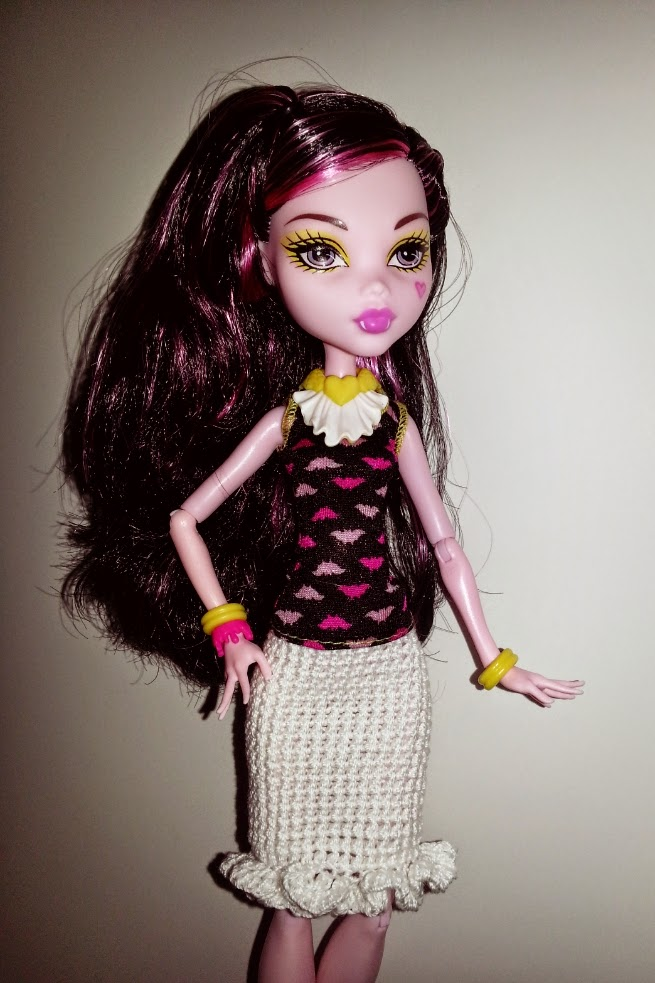 Haunted Verse Free Crochet Pattern Monster High Ruffle Skirt