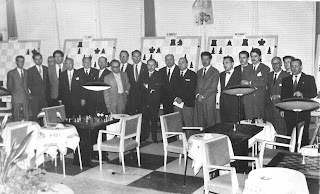 Entrega de trofeos del I Torneo Internacional de Ajedrez Costa del Sol 1961
