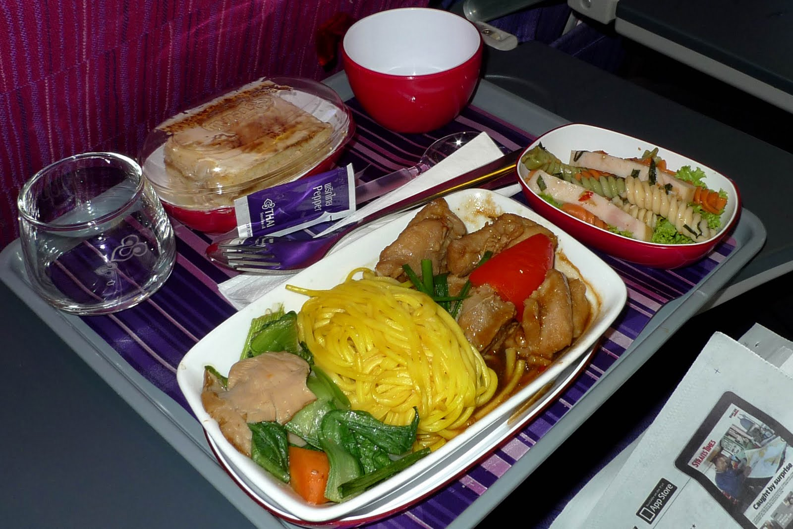 Bangkok 2011 thai airways food for Air thai cuisine