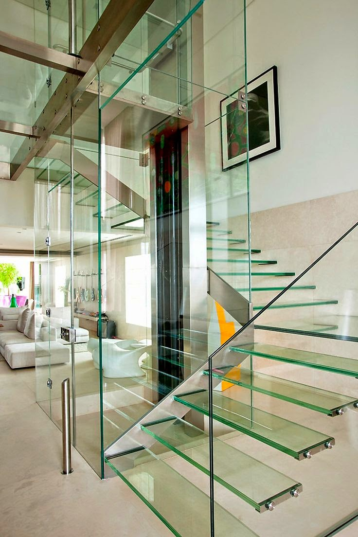 Glass staircase designs types and features stairs designs for Staircases types