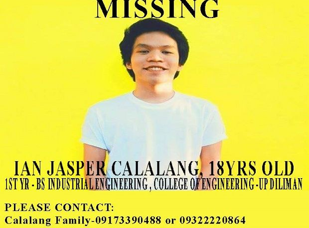 After 21 Days of Disappearance UP Student Ian Jasper Calalang Returns