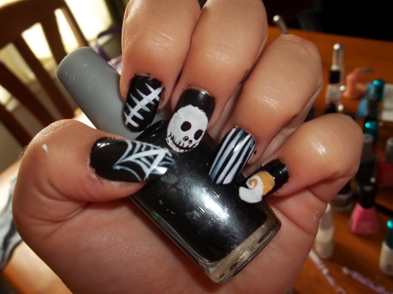 Kick Ass Nails: Nightmare Before Christmas Inspired Nails